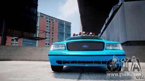 Ford Crown Victoria Classic Blue NYPD Scheme for GTA 4 upper view