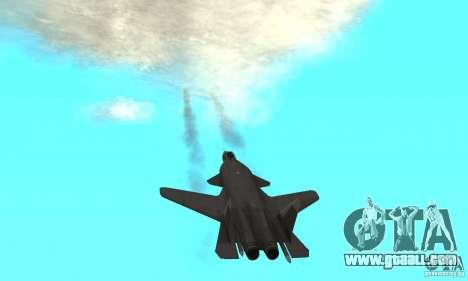 Su-47 berkut Defolt for GTA San Andreas back view