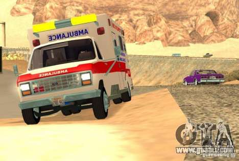 Ford Econoline Ambulance for GTA San Andreas left view