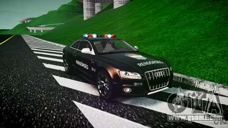 Audi S5 Hungarian Police Car black body for GTA 4