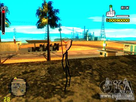 TrollFace skin for GTA San Andreas third screenshot