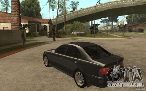 BMW 523i E39 1997 for GTA San Andreas back left view