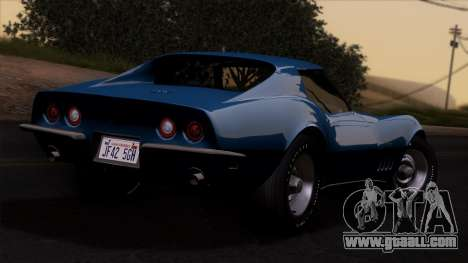 Chevrolet Corvette C3 Stingray T-Top 1969 v1.1 for GTA San Andreas left view