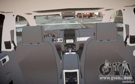 Volkswagen Touareg R50 for GTA 4 bottom view