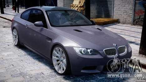 BMW M3 E92 stock for GTA 4 bottom view