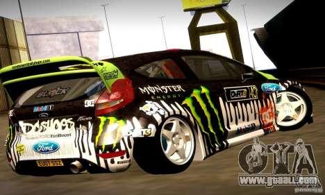 Ford Fiesta Gymkhana 4 for GTA San Andreas interior