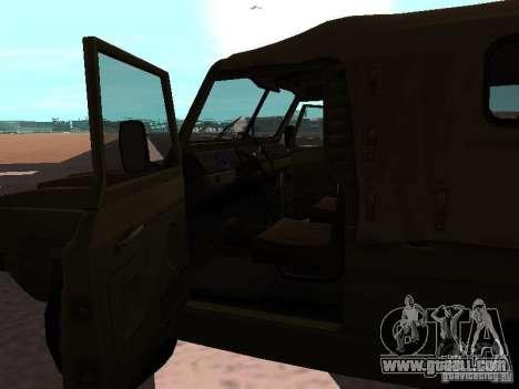 UAZ-3907 Jaguar for GTA San Andreas back left view