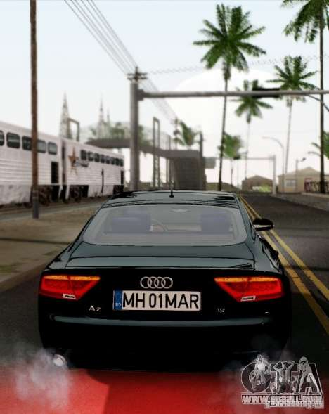 Audi A7 Sportback 2010 for GTA San Andreas right view