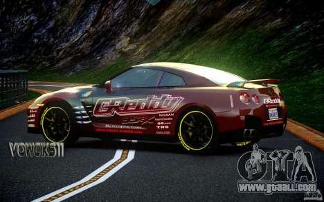 Nissan GT-R Black Edition GReddy for GTA 4 back left view