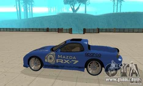 Mazda RX-7 Pickup for GTA San Andreas back left view
