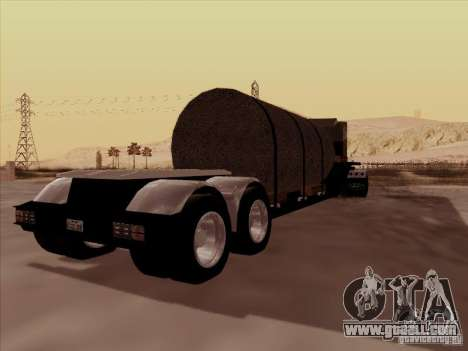 Trailer, Peterbilt 378 Custom for GTA San Andreas back view