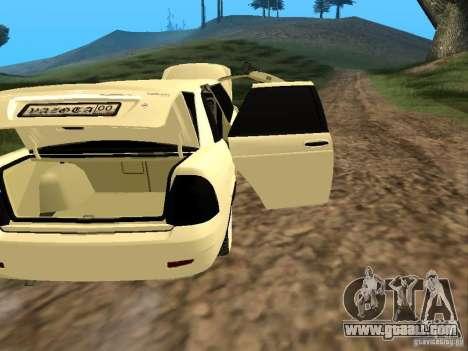 LADA 2170 Priora Limousine for GTA San Andreas inner view