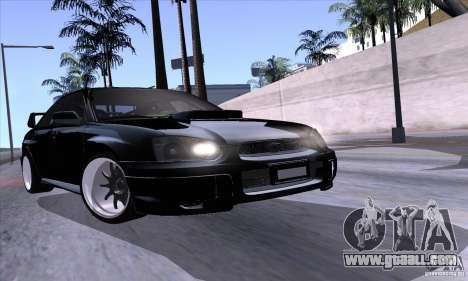 Subaru Impresa WRX light tuning for GTA San Andreas side view