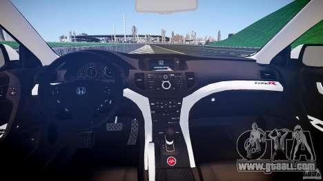 Honda Accord Type R NYPD (City Patrol 2322) ELS for GTA 4 upper view