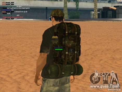 Military backpack for GTA San Andreas second screenshot