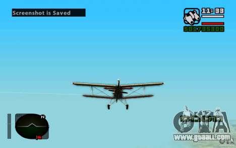 Antonov an-2 for GTA San Andreas left view