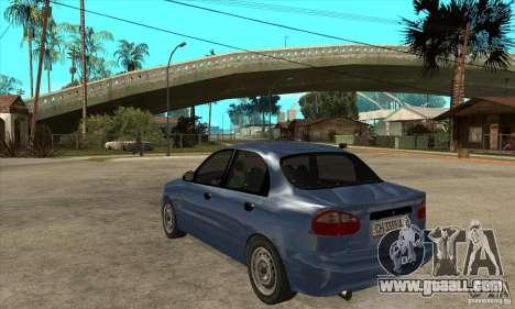 Daewoo Lanos v2 for GTA San Andreas back left view