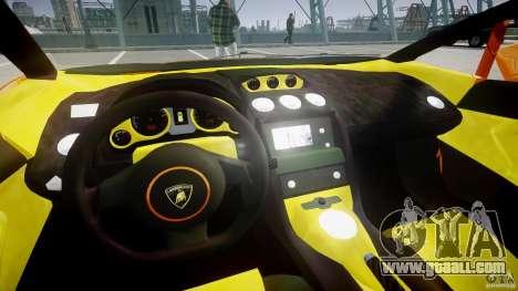 Lamborghini Gallardo Superleggera for GTA 4 back view