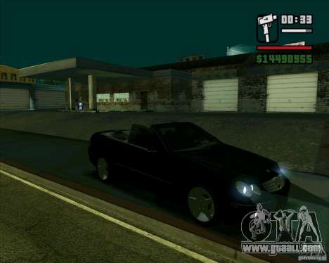 Mercedes-Benz CLK500 for GTA San Andreas back left view