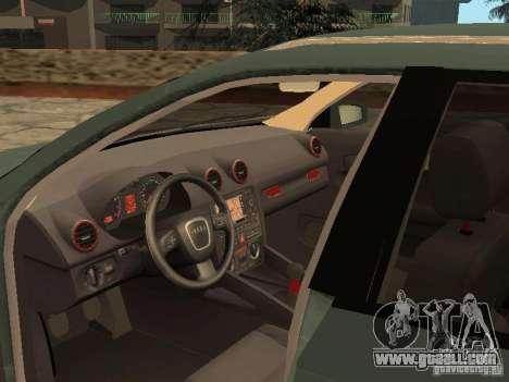 Audi S3 Sportback 2007 for GTA San Andreas back view