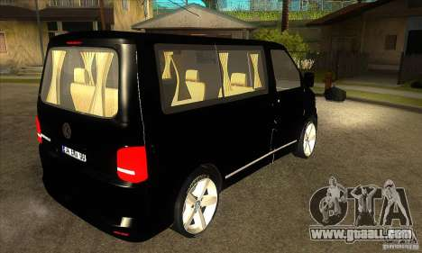 Volkswagen Caravelle 2011 SWB for GTA San Andreas right view