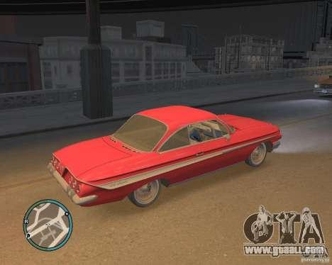 Chevrolet Impala 1961 for GTA 4 back left view