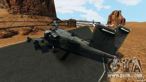 KA-50 Black Shark Modified for GTA 4 back left view