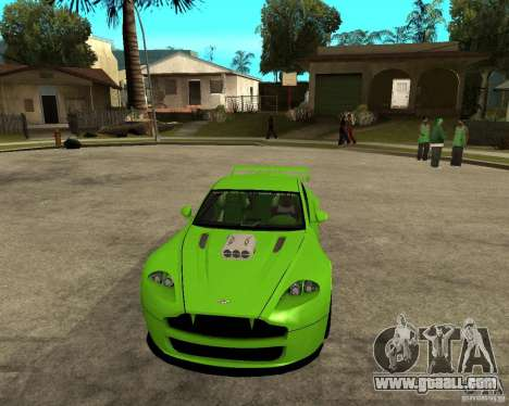 Aston Martin Vantage V8 - Green SHARK TUNING! for GTA San Andreas back view