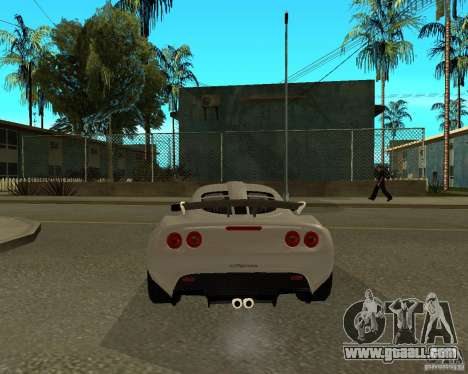 Lotus Exige for GTA San Andreas back left view