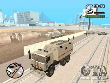KAMAZ MES version 2 for GTA San Andreas left view