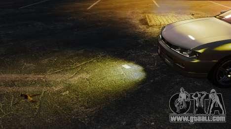 Yellow light lights for GTA 4