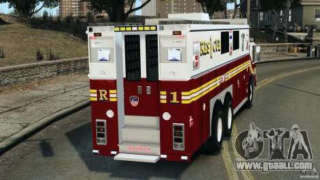 FDNY Rescue 1 [ELS] for GTA 4 back left view