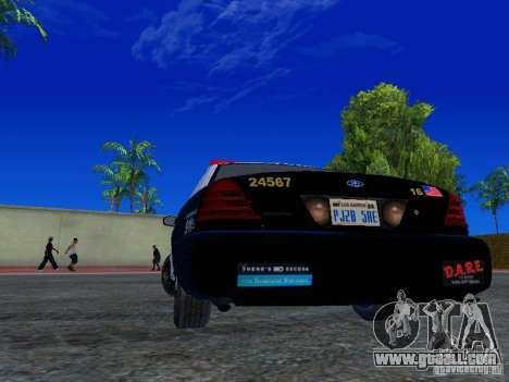 Ford Crown Victoria San Andreas State Patrol for GTA San Andreas back left view