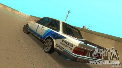 Volvo 240 Turbo Group A for GTA San Andreas back left view