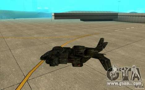The shuttle from the game Aliens vs Predator 3 for GTA San Andreas back left view