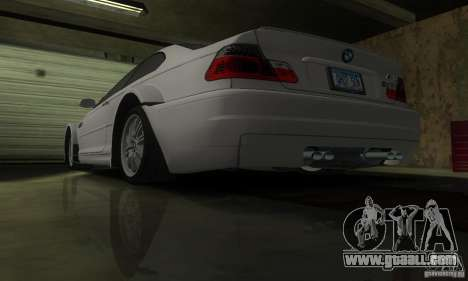 BMW M3 Tuneable for GTA San Andreas bottom view