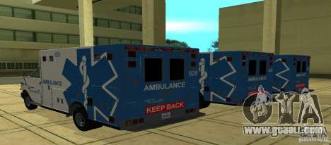 Ambulance from GTA 4 for GTA San Andreas left view