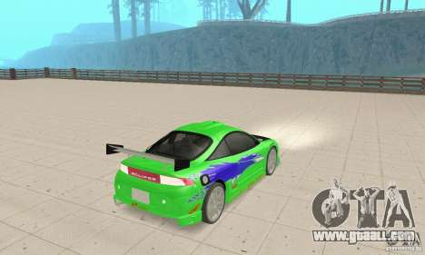 Mitsubishi Eclipse FnF for GTA San Andreas left view