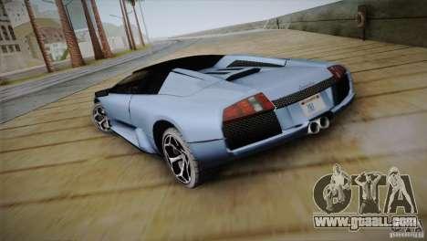 Lamborghini Murcielago Roadster for GTA San Andreas back left view