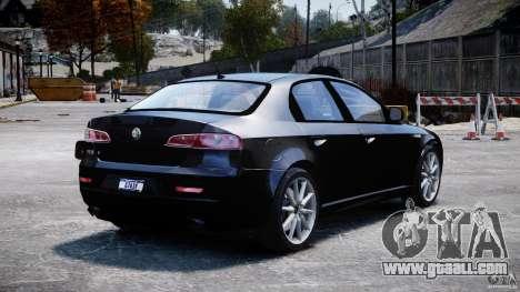 Alfa Romeo 159 Li v2 for GTA 4 back left view