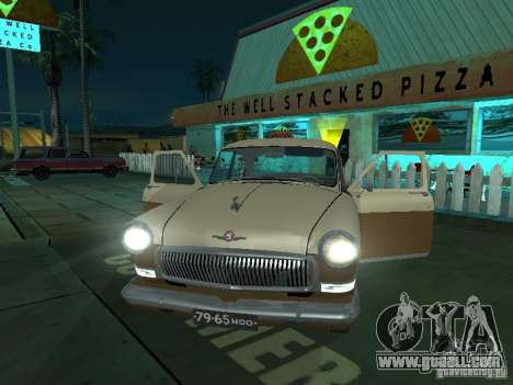 GAS M21T Taxi for GTA San Andreas inner view