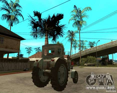 Tractor Т-40М for GTA San Andreas back left view