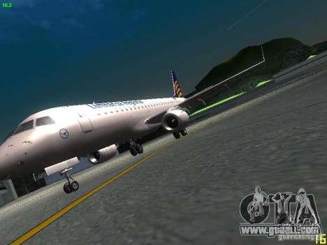 Embraer ERJ 190 Lufthansa Regional for GTA San Andreas inner view
