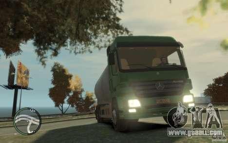 Mercedes Benz Actros Gas Tanker for GTA 4 interior