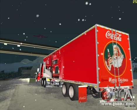 The trailer for the Trailer of Coca Cola for GTA San Andreas back left view