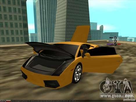 Lamborghini Gallardo for GTA San Andreas back view