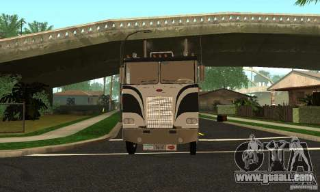 Peterbilt 362 Cabover for GTA San Andreas back view