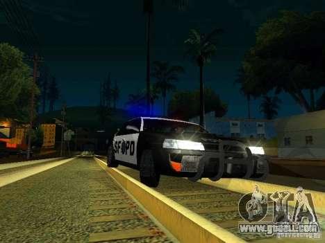 San-Fierro Sultan Copcar for GTA San Andreas inner view