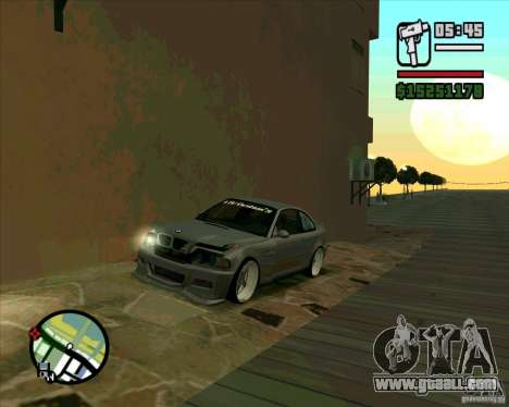 BMW E46 M3 Sport for GTA San Andreas back left view