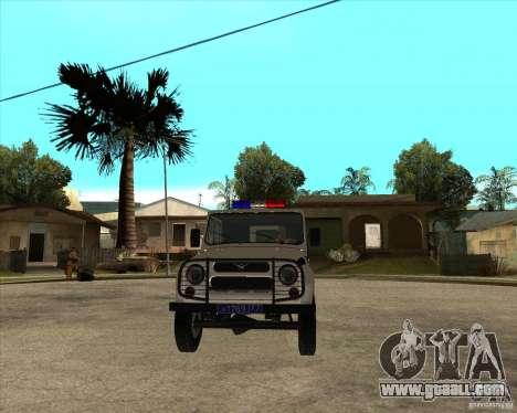 UAZ 31514 patrol for GTA San Andreas back view